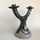 Thumbnail: vintage, handmade, clay ceramic, two tier candlestick holder
