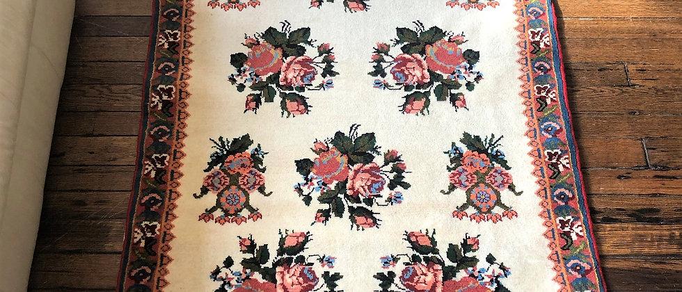 """vintage rug (61"""" x 40.5"""")"""