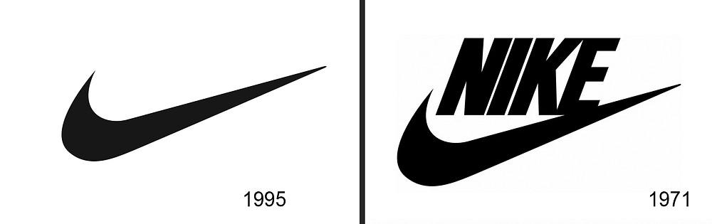התפתחות לוגו-סמל ״נייקי״