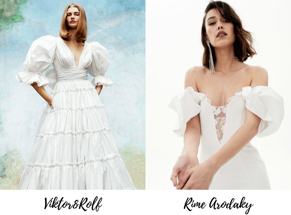 Puffy-sleeve wedding dresses are the new wedding dress trend for 2020, as seen in New York Bridal Fashion Week.