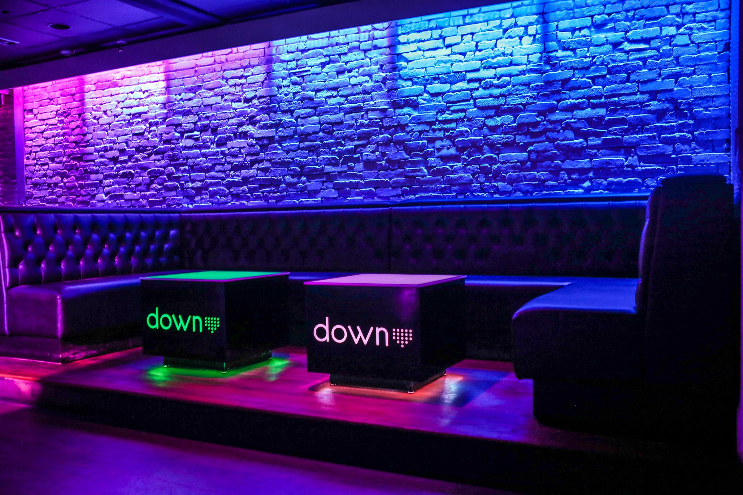 Lounge seating throughout