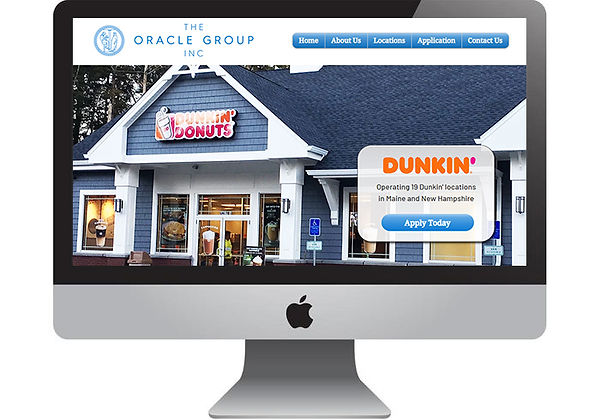 Oracle Group, Inc. Dunkin' Donuts Website, designed by Infinite Marketing, Inc.