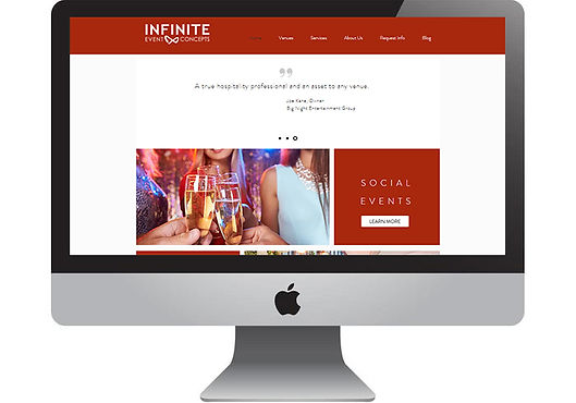 Infinite Event Concepts Website, designed by Infinite Marketing, Inc.