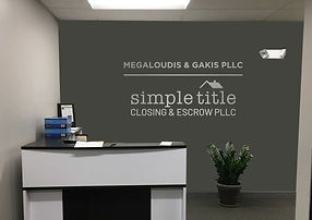 Simple Title Closing & Escrow PLLC Office Signage
