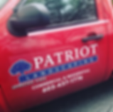 Patriot Landscaping Truck Signage, designed by Infinite Marketing, Inc.