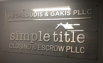 Simple Title Office Signage, designed by Infinite Marketing, Inc.