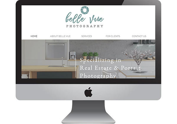 Belle Vue Photography Website, designed by Infinite Marketing, Inc.