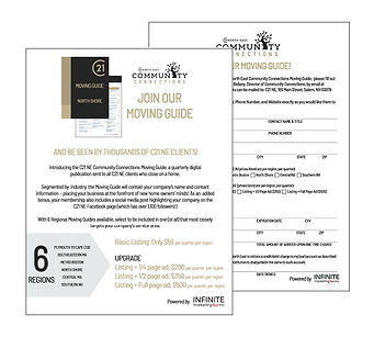 Century 21 North East Community Connections Moving Guide, designed by Infinite Marketing, Inc.