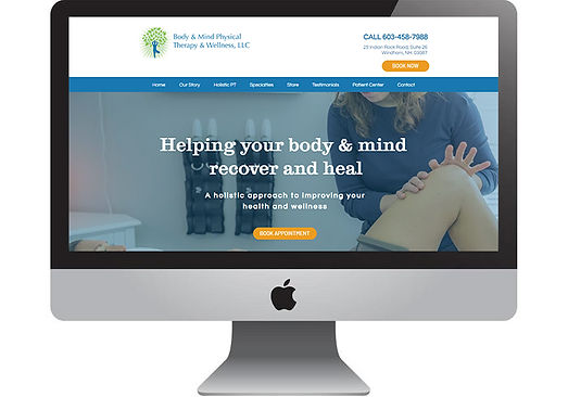 Body & Mind Physical Therapy Website, designed by Infinite Marketing Inc.