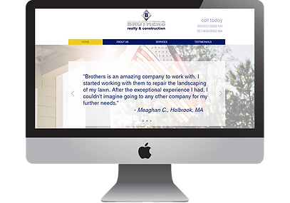 Brothers Realty & Construction Website, designed by Infinite Marketing, Inc.