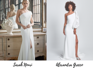 One shoulder wedding dresses are trending for 2020 due to their classic and elegant style.