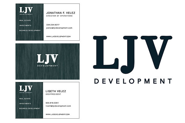 LJV Development Logo and Business Cards, designed by Infinite Marketing, Inc.