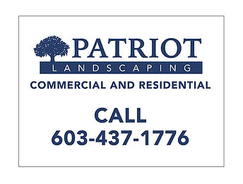 Patriot Landscaping Lawn Sign, designed by Infinite Marketing, Inc.