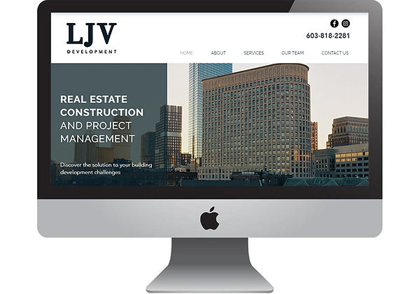 LJV Development Website, designed by Infinite Marketing, Inc.