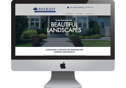 Patriot Landscaping Website, designed by Infinite Marketing, Inc.