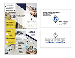 Brothers Realty & Construction Print Collateral, designed by Infinite Marketing, Inc.
