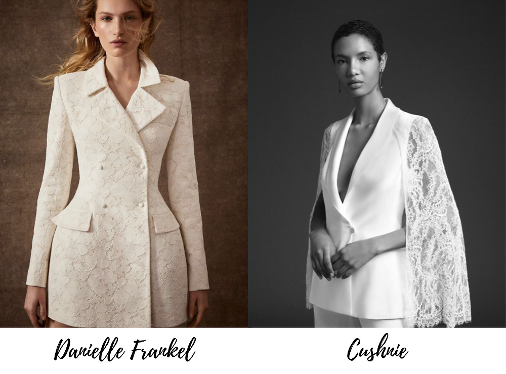 New York Bridal Fashion Week showed trendy, bold bridal blazers that make a statement.