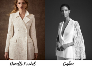 New York Bridal Fashion Week showed trendy, bold bridal blazers that make a statement.