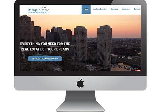 Simple Title Closing & Escrow PLLC Website Design