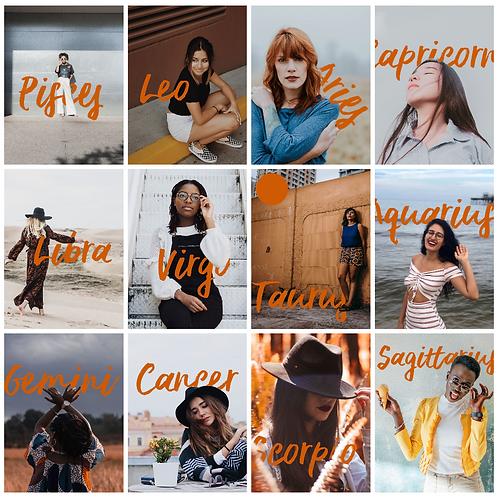 12 Images: Zodiac in Orange