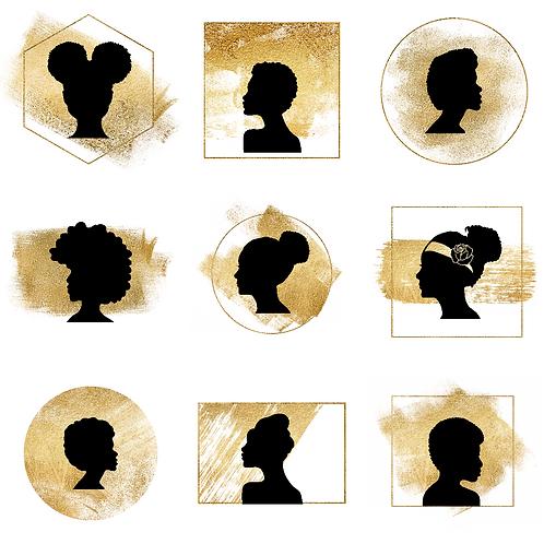 12 African Queen Icons
