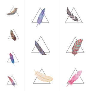 Feathers in Triangles