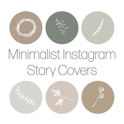 6 Instagram Minimalist Story Covers