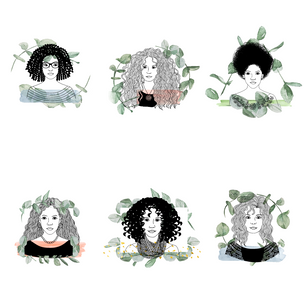 Curly Hair Icons