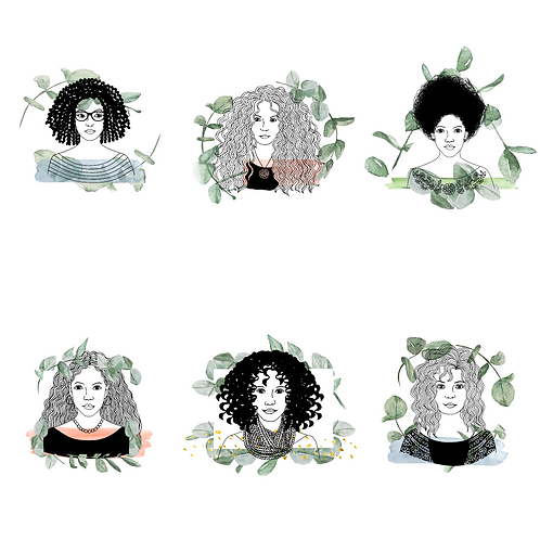 6 Curly Hair Icons