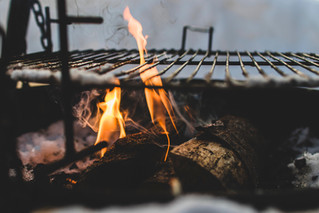 Different types of firewood for grilling and smoking food