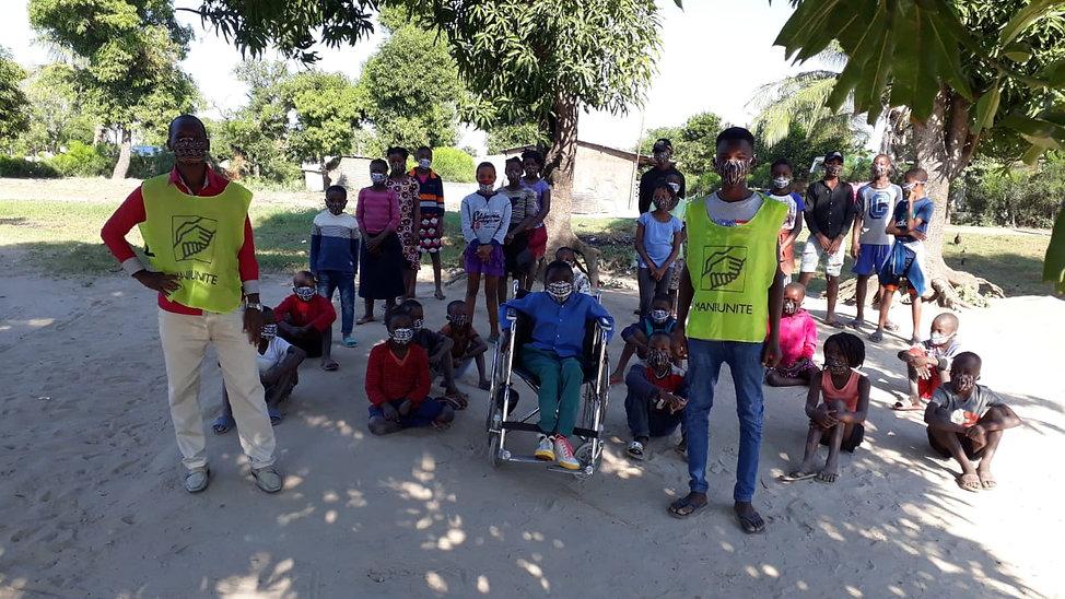 Mani Unite. Covid Mozambico. Protezione bambini.