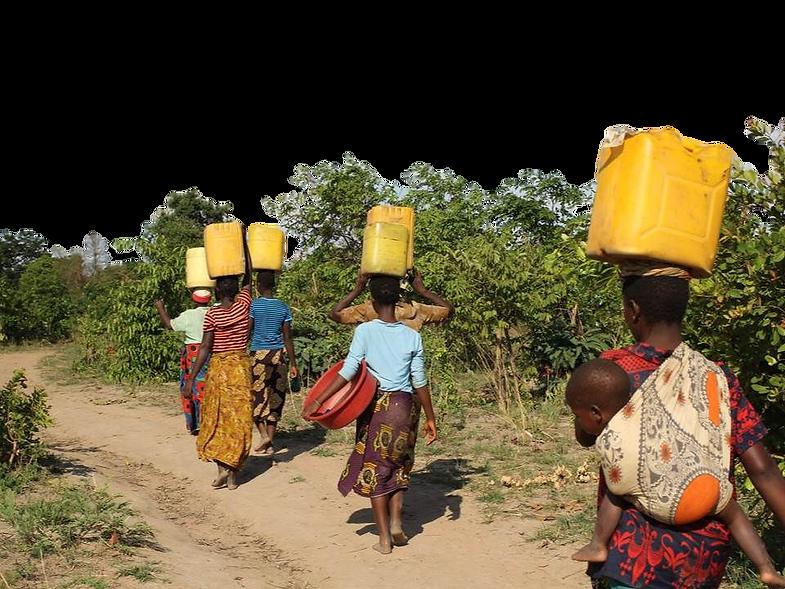 Donne cercano acqua. Acqua è Vita.