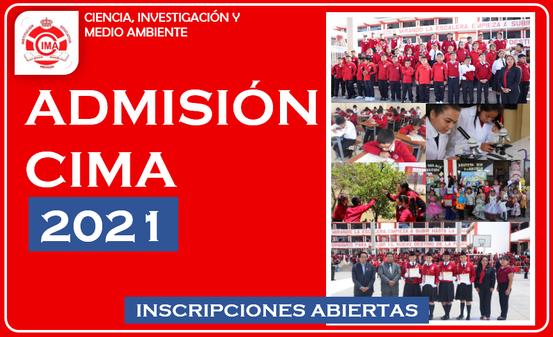 Admisión - CIMA 2021