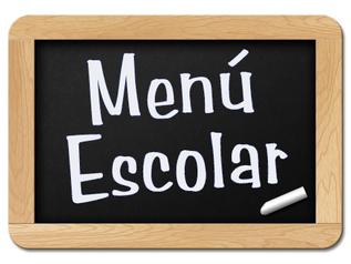 Menú Escolar - Noviembre/Diciembre 2019