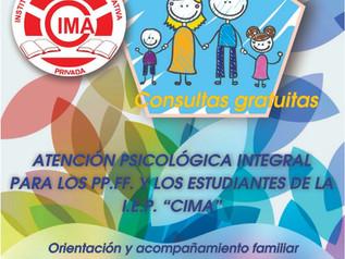 """Atención Psicológica Integral para los PP.FF. y Estudiantes de la I.E.P. """"CIMA"""""""