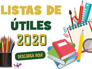Relación de Útiles Escolares - Año Escolar 2020