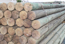 100mm Round Pine Posts Logs