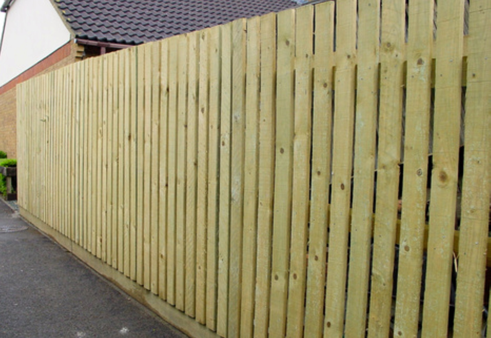 Treated Pine Timber Slat Fence