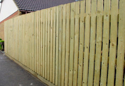 Treated Pine Timber Slat Fence