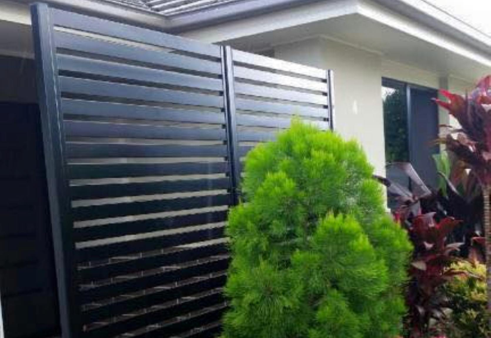 Aluminium Privacy Screen Black