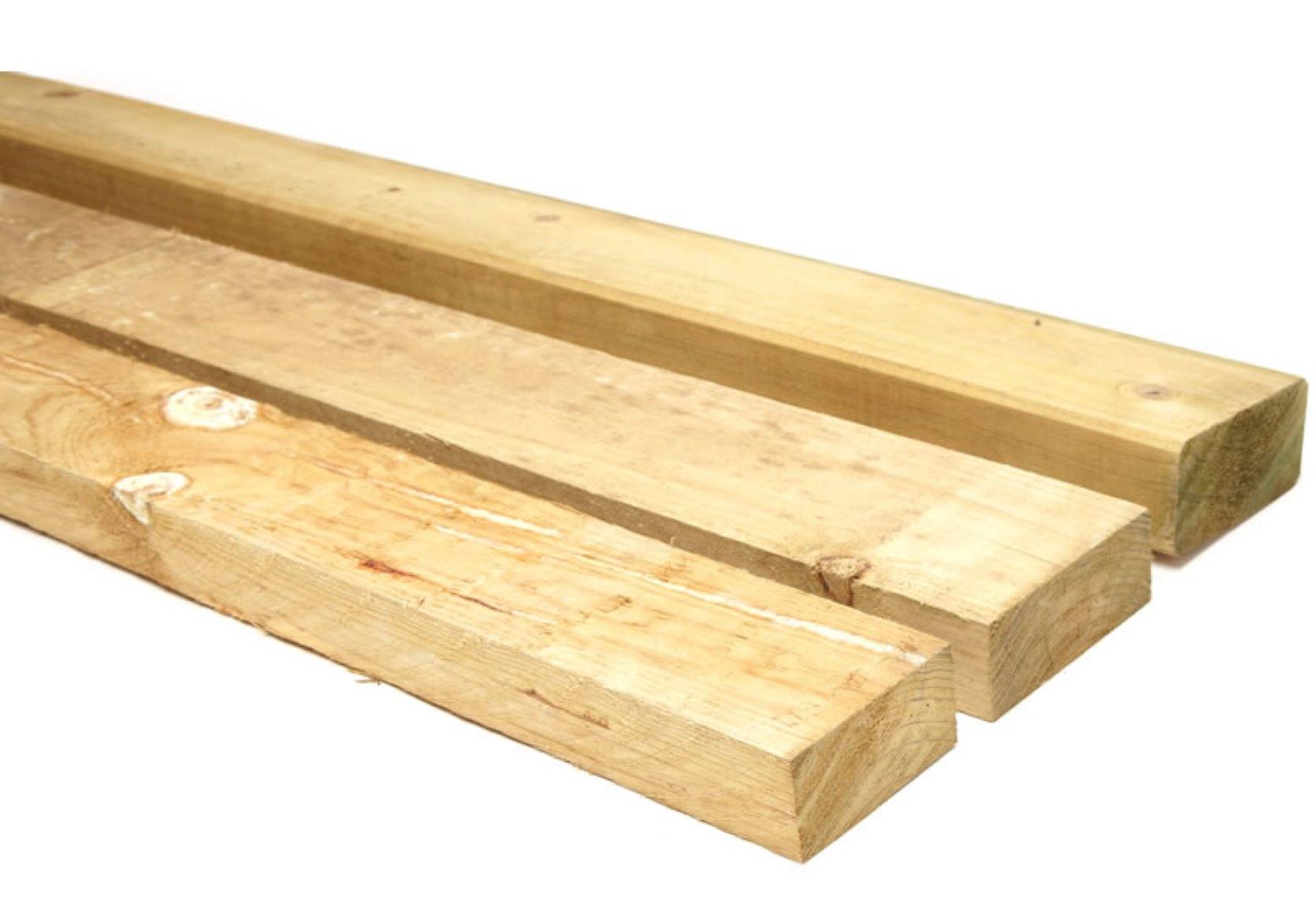 4.8m 75x38 Pine fence rails CCA Treated