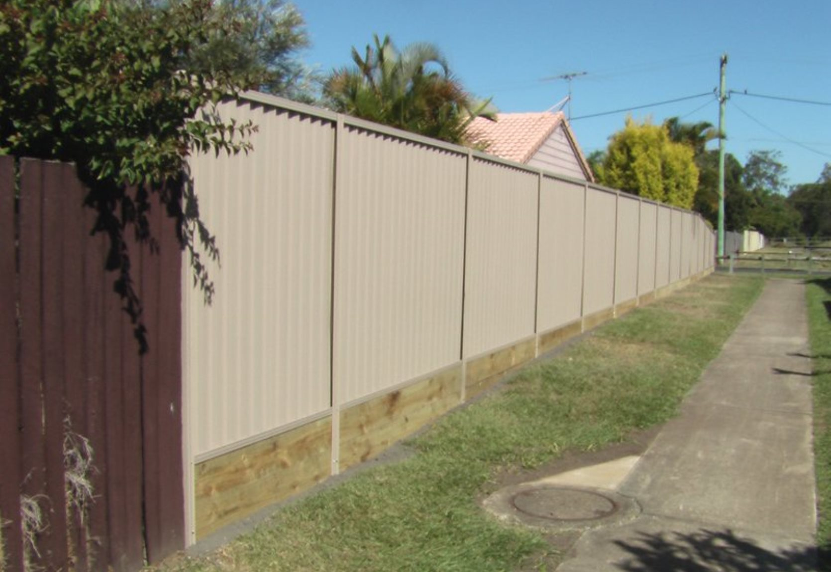Colorbond on top of Timber Sleepers