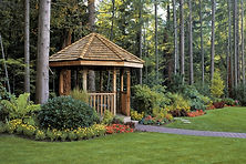 A summer house in a landscape garden