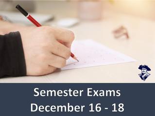 Semester Exams 7th - 12th grades