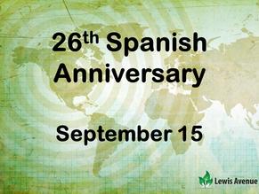 Celebrating 26 years serving the Spanish community