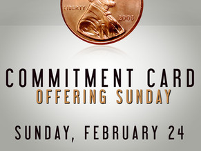 Commitment Card Offering Sunday