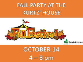 Church-wide Fall Party
