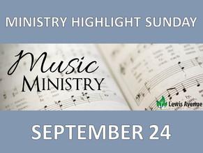 Ministry Highlight Sunday: Music Ministry