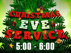 Special Christmas Eve Service