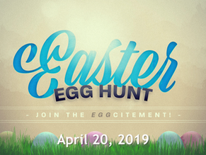 We hope to see you this Saturday for the Easter egg hunt!